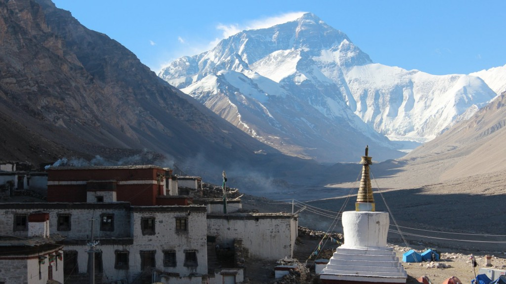 Kloster Rongbuk mit Mt. Everest - Tibettour