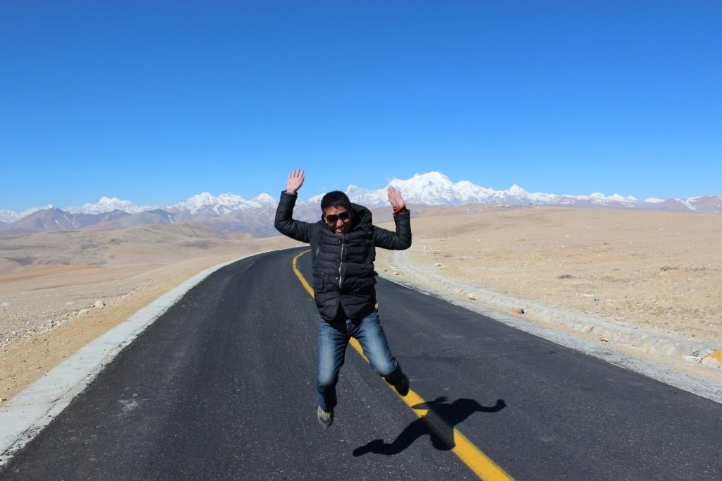 Auf dem Highway in Tibet