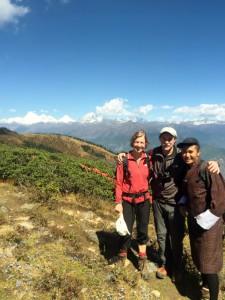 Bhutan Gangkhar Puensum Trek mit Blick zum Himalaya