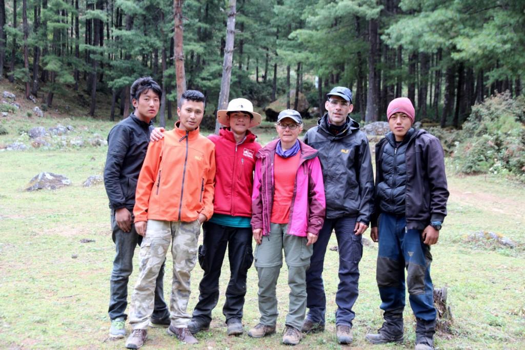 Bhutan - Unsere Begleitmannschaft auf der Trekkingtour