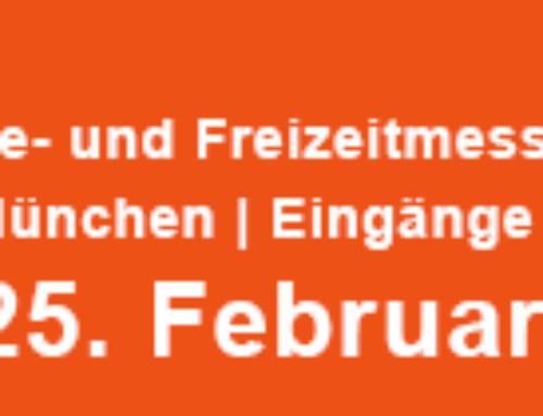 Wir sind auf der Messe f.re.e vom 21.2. – 25.2.2018 in München – HALLE A4 Stand 612